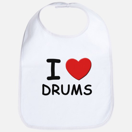 I love drums Bib