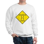 Dangerous Curves Sign Sweatshirt