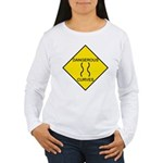 Dangerous Curves Sign Women's Long Sleeve T-Shirt
