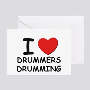 I love drummers drumming Greeting Cards (Package o