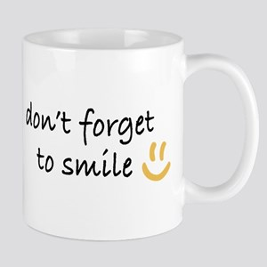 Don't Forget to SMILE - Yellow Happy Face Mug