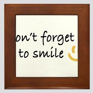 Don't Forget to SMILE - Yellow Happy Face Framed T