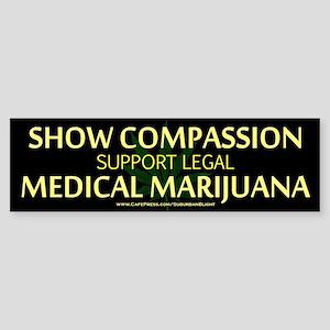Compassion Medical Marijuana Bumper Sticker