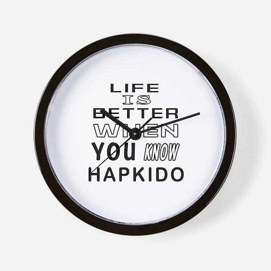 Hapkido Martial Arts Designs Wall Clock