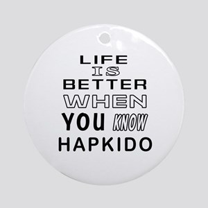 Hapkido Martial Arts Designs Ornament (Round)