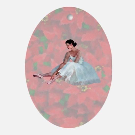Poinsettia Ballerina Ornament