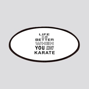 Karate Martial Arts Designs Patches