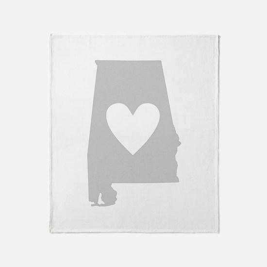 Heart Alabama Throw Blanket