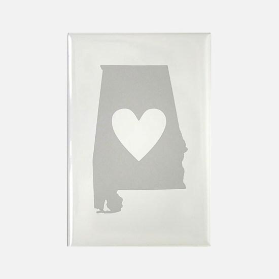 Heart Alabama Rectangle Magnet