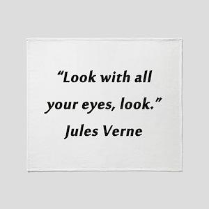 Verne On Looking Throw Blanket