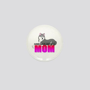 Siberian Husky Mom Mini Button