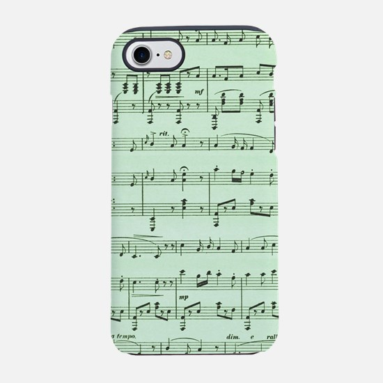 Green Sheet Music iPhone 7 Tough Case