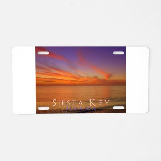 Siesta Key Florida Blue Orang Aluminum License Pla