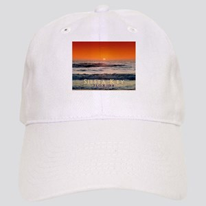 Siesta Key Florida Orange Sun Cap