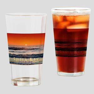 Siesta Key Florida Orange Sun Drinking Glass