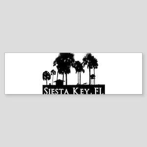 Siesta Key Palms Sticker (Bumper)