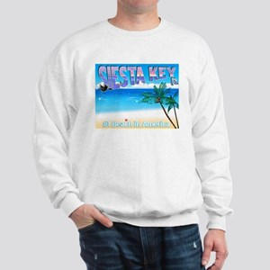 Siest Key, FL #1 Beach in Ame Sweatshirt