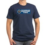 NSA Invisible Men's Fitted T-Shirt (dark)