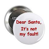 Dear santa Buttons