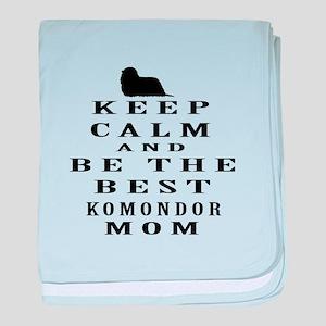 Keep Calm Komondor Designs baby blanket