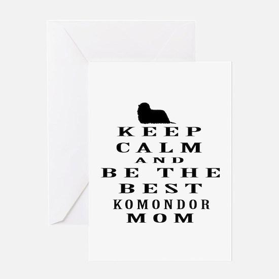 Keep Calm Komondor Designs Greeting Card