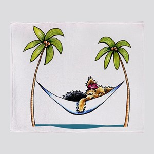 Yorkie Island Princess Throw Blanket