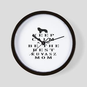 Keep Calm Kuvasz Designs Wall Clock