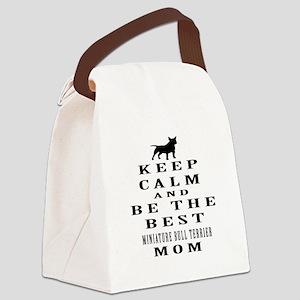 Keep Calm Miniature Bull Terrier Designs Canvas Lu