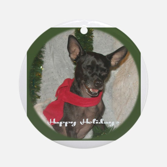 Happy Holidog Ornament (Round)
