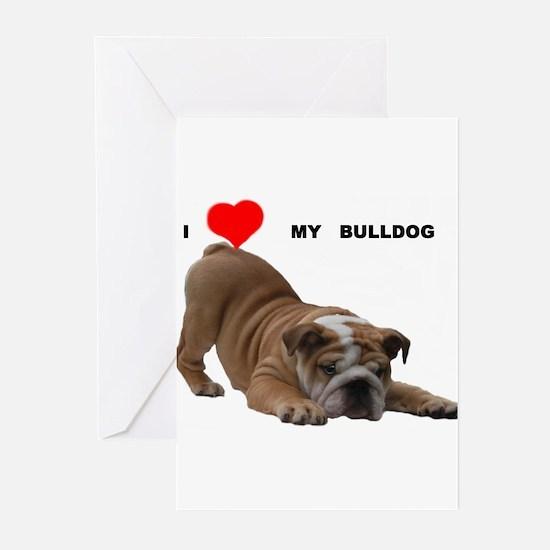 BULLDOG SMILES Greeting Cards (Pk of 10)