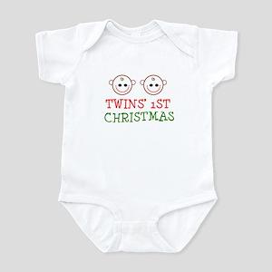 Twins' 1st Christmas Infant Bodysuit