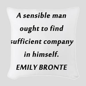 Emily Bronte - Sensible Man Woven Throw Pillow
