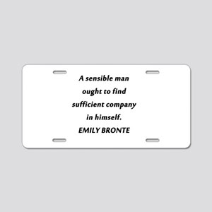 Emily Bronte - Sensible Man Aluminum License Plate