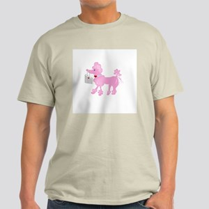 Pink Poodle Ash Grey T-Shirt
