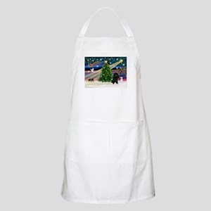Xmas Magic-Black Poodle BBQ Apron