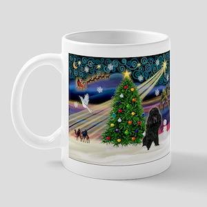 Xmas Magic-Black Poodle Mug