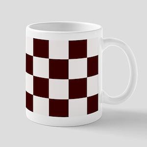 Dark Brown Checkerboard Mug