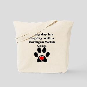 Cardigan Welsh Corgi Dog Day Tote Bag