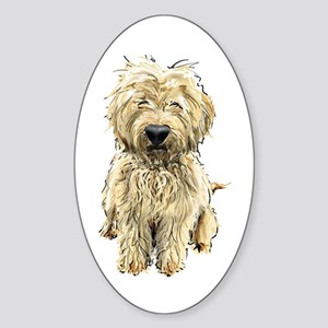 Goldendoodle Oval Sticker