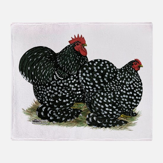 Cochins Mottled Pair Throw Blanket
