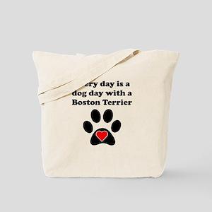 Boston Terrier Dog Day Tote Bag