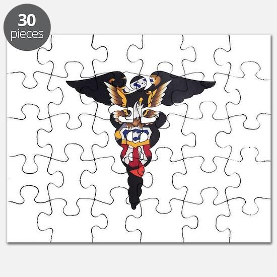 Navy Caduceus Eagle Puzzle