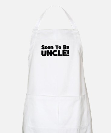 Soon To Be Uncle! Black BBQ Apron
