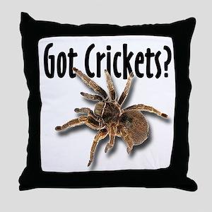 Tarantula Got Crickets Throw Pillow