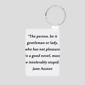 Austen - Good Novel Aluminum Photo Keychain