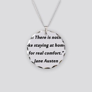 Austen - Staying At Home Necklace Circle Charm