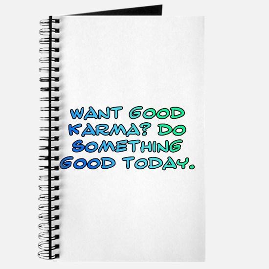 Want good karma? Journal
