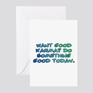 Want good karma? Greeting Cards (Pk of 20)