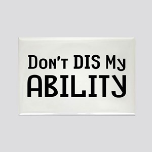 Don't Disability Rectangle Magnet