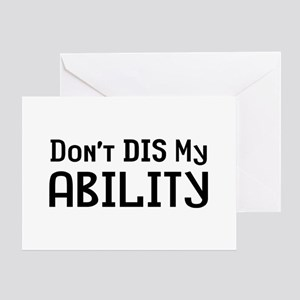 Don't Disability Greeting Card
